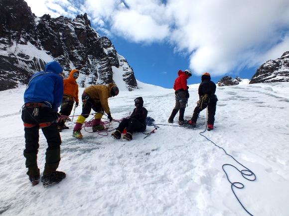 Exercicio no glaciar