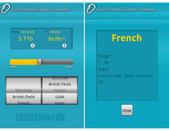 App Fácil Escalada Converter Graus