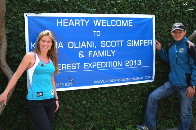 bandeira expedição mini no topo do mundo