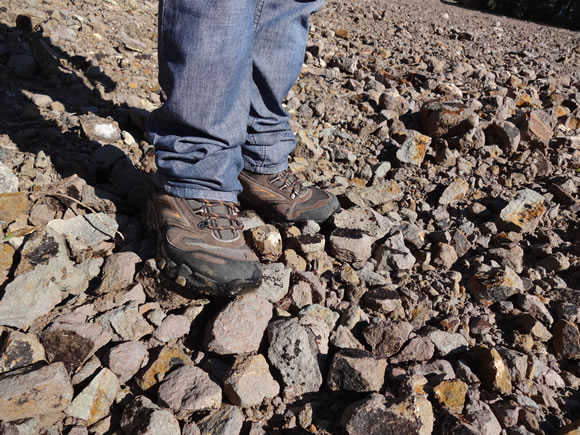 Teste sobre pedras da Bota Dakota