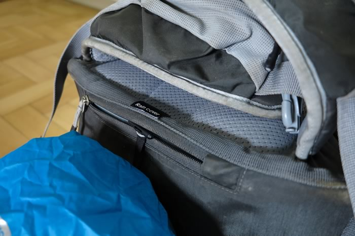 Capa de chuva da mochila