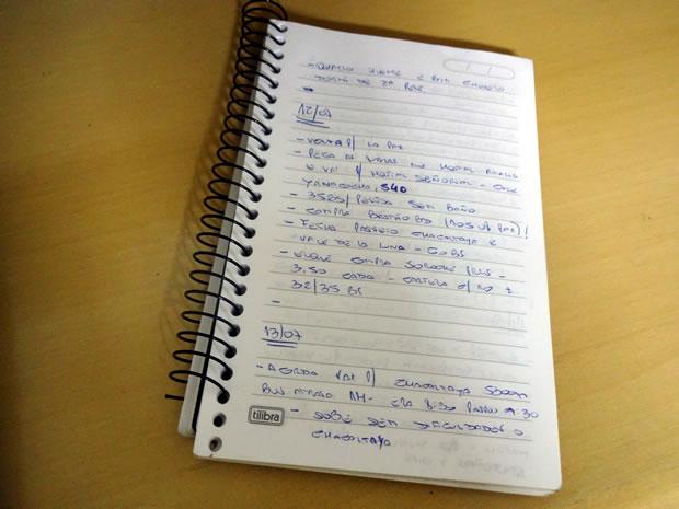 caderno anotações
