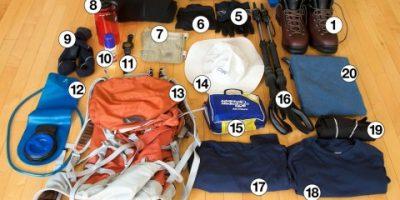 equipamentos de trilha e camping