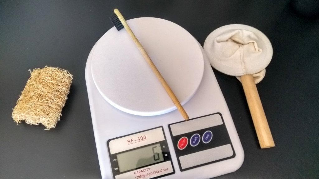Escova de bambu é mais leve