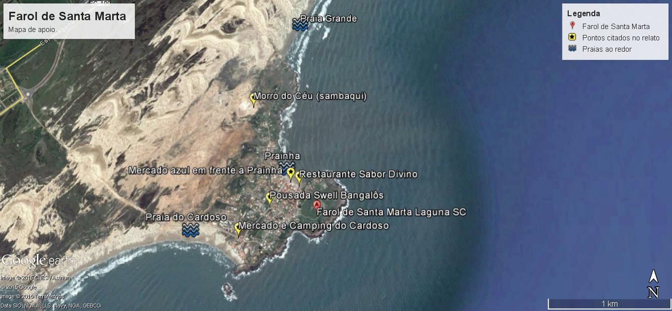 Mapa Farol de Santa Marta