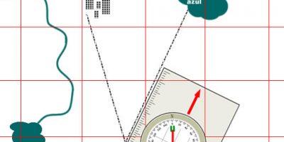 navegação carta topográfica
