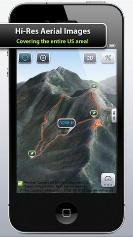 mapas 3D de trilhas pro iPhone