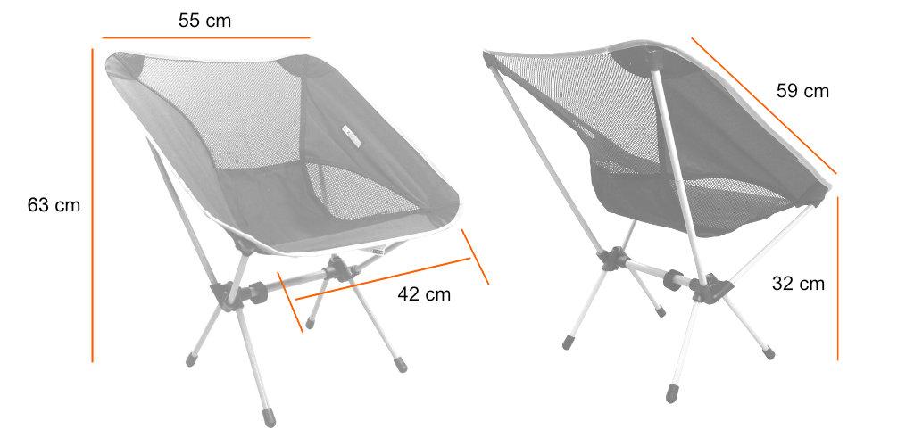 Medidas da cadeira Karibu