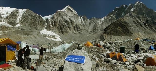 panoramica acampamento base everest