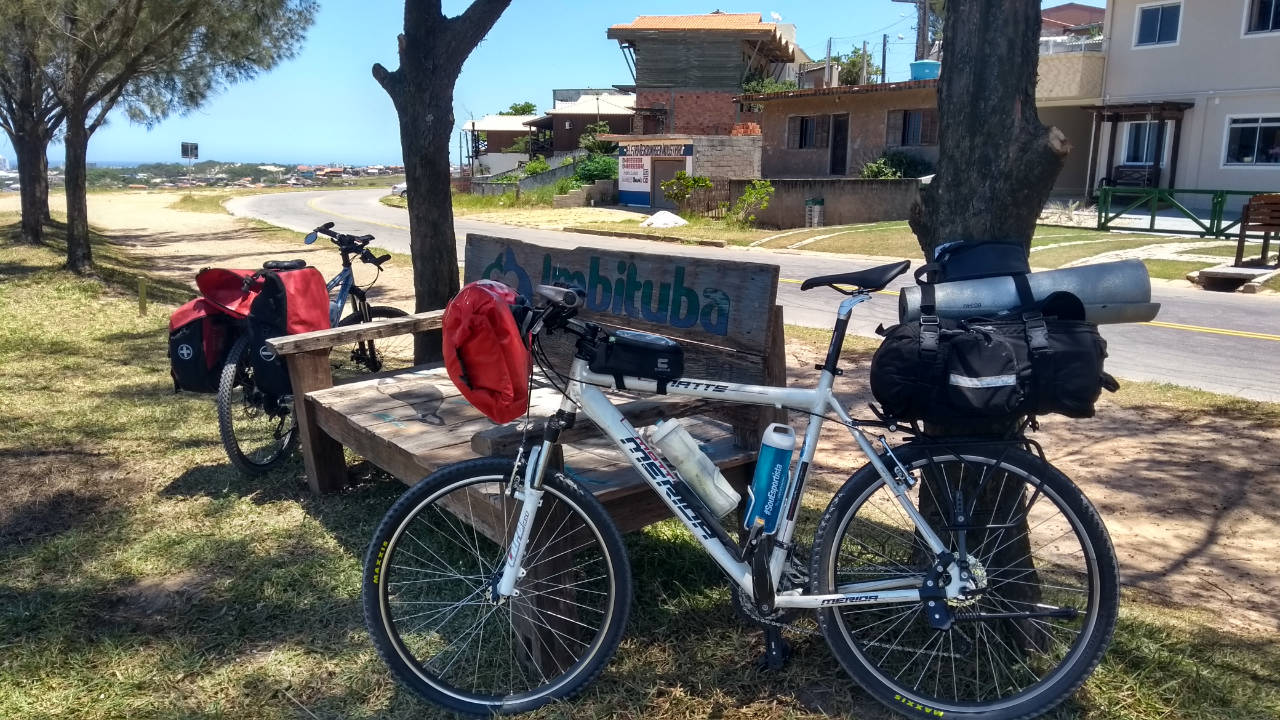 Pausa em Imbituba - Pedal até o farol de Santa Marta