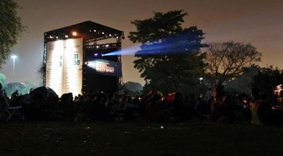 Festival de filmes outdoor