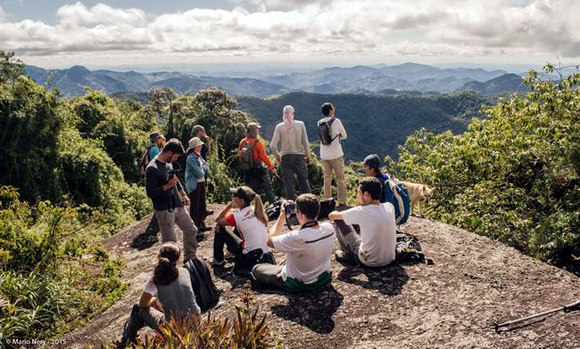 No meio do caminho para a Pedra Bonita, na Serra da Mantiqueira