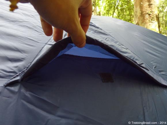 Ventilação lateral da barraca
