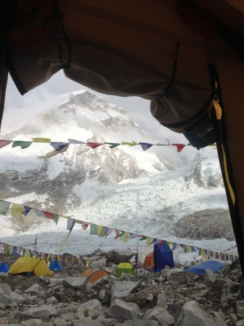 vista da varanda de casa no Everest