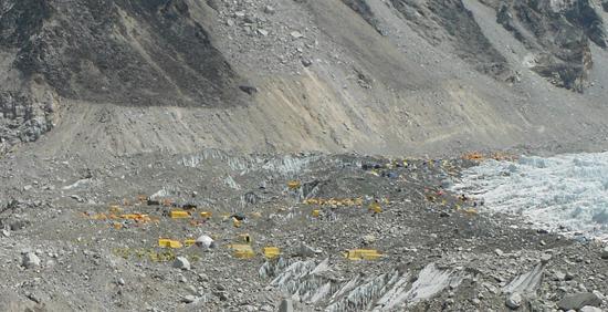 vista de todo camp base Everest